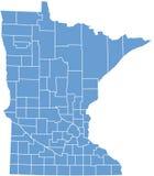 Condizione del Minnesota dalle contee Immagini Stock Libere da Diritti