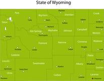 Condizione del Wyoming Fotografia Stock Libera da Diritti