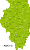 Condizione dell'Illinois Fotografie Stock Libere da Diritti