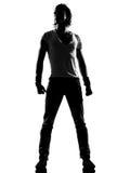 Condizione dell'uomo di dancing del danzatore della musica funky del luppolo dell'anca Fotografie Stock