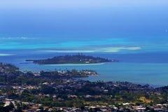condizione della sosta di pali di nuuanu o dell'Hawai di ahu Immagine Stock