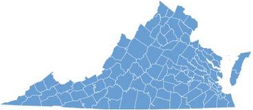Condizione della Virginia dalle contee Immagine Stock Libera da Diritti