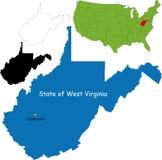 Condizione della Virginia dell'Ovest, S.U.A. illustrazione vettoriale