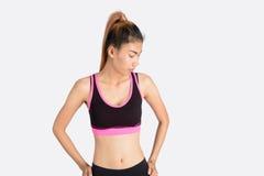 Condizione di modello della donna asiatica di forma fisica Immagini Stock Libere da Diritti