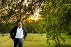 Condizione grassa sicura dell'uomo d'affari Fotografia Stock Libera da Diritti