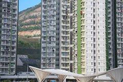 Condizioni di vita ad alta densità alla HK Immagini Stock