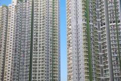 Condizioni di vita ad alta densità alla HK Fotografia Stock Libera da Diritti