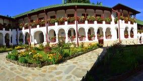 Condizioni di vita della monastero-suora di Agapia Fotografie Stock Libere da Diritti