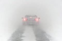 Condizioni stradali tempesta 3-14-2017 di inverno di pasqua del ` né - Immagini Stock Libere da Diritti