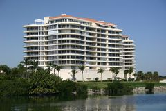 Condo apartments on bay Stock Photos