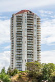 Condo Balconies in Nanaimo Stock Photo
