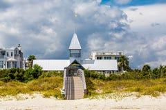 Condo Beach Entrance Horizontal Stock Images