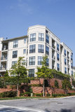 Condo Building with Large Bay Windows Royalty Free Stock Photography
