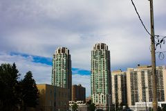 Toronto Condo Building from Below stock images
