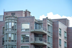 Condo buildings with balconies Royalty Free Stock Photo