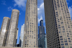 Condo buildings in Chicago stock photos