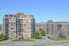 Condo buildings in Montreal Stock Image