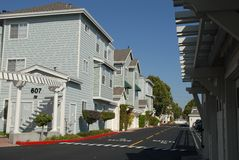 Condo Complex. From a condominium and street inside Royalty Free Stock Images