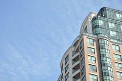 Condo. Minium building in a blue sky Stock Photography