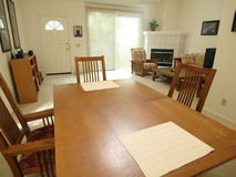 Condo Dining Room. A dining room table inside a bright California townhouse Royalty Free Stock Image