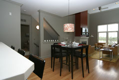 Condo dining room living room royalty free stock photography
