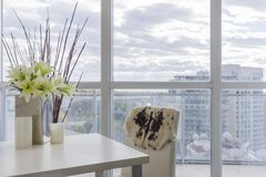 Condo Interior design. Interior design in a new condo. High floor Stock Photo