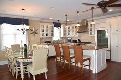 Condo kitchen and dining area royalty free stock images