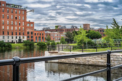 Condo Lachine Canal. Residential condo project located on the shores of the Lachine Canal in historic Griffintown. It creates an oasis of calm that is just stock images