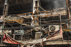 Condo and Restaurant Fire Damage Stock Photos