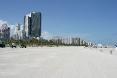 Condo row. Condos and hotels on the beach Royalty Free Stock Images