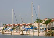 Condo and Sailboats. On Florida Gulf Coast Stock Photo