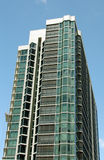 Condo With Scaffold. Southwest Florida Condo With Large Glass Windows & Scaffold Stock Images