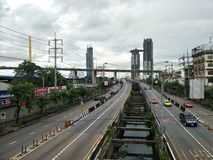 Daytime at Rama III Road Bangkok, Thailand royalty free stock images