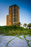 Condo tower on the beach in Singer Island, Florida. Stock Photo