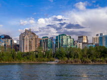 Condo towers in urban Calgary Stock Photography