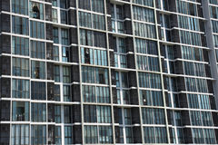 Condo windows and balconies viewed. Buildings pattern photo : Condo windows and balconies viewed Stock Images