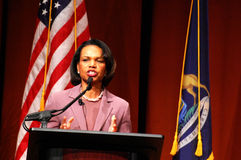 Condoleezza Rice in Michigan royalty-vrije stock foto