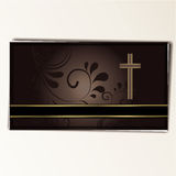 Condolence card. In with a  cross and space for text Stock Photography