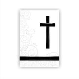 Condolence card. In with a  cross and space for text Stock Photos