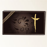 Condolence card. In with a  cross and space for text Stock Image