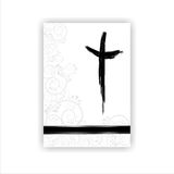 Condolence card. With a  cross and space for text Royalty Free Stock Photo