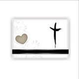 Condolence card. With a heart, cross and space for text Royalty Free Stock Photos