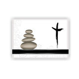 Condolence card. With stones, cross and space for text Stock Photo