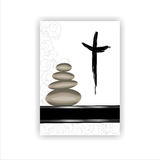 Condolence card. With a  stones and space for text Stock Images