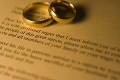 Condolence Letter Stock Photos