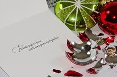 Condolencia de la Navidad Imagen de archivo