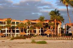 Condomínio da praia, ilha de Sanibel, Florida Imagem de Stock
