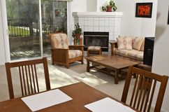 Condomínio ensolarado brilhante de Califórnia Fotos de Stock Royalty Free