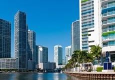 Condomínios do rio de Miami Foto de Stock Royalty Free