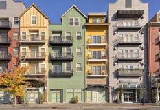 Condomínios modernos em Gresham Oregon Fotografia de Stock Royalty Free